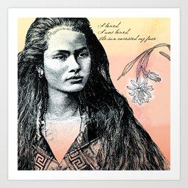 Poetry Girls: Navajo Girl Art Print