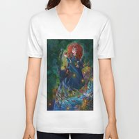 merida V-neck T-shirts featuring Merida 2 by Kiome-Yasha