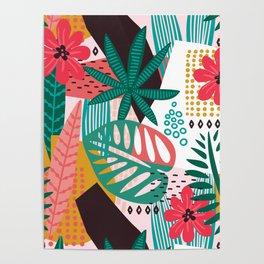 Matisse Inspired Pop Art Tropical Fun Jungle Pattern Poster