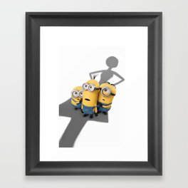 Minion life: oh-oh! Framed Art Print