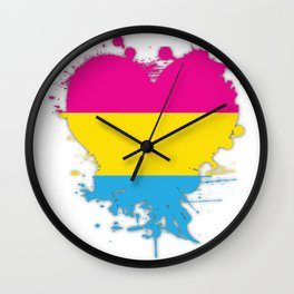 Pansexual Heart Wall Clock