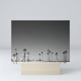 Palm Tree Beach Mini Art Print
