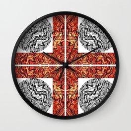 Grid Lock Wall Clock