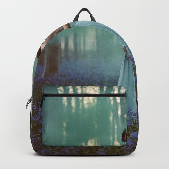 Girl in forest 2 Backpack