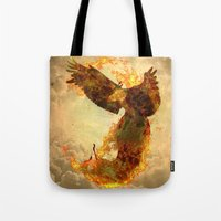 phoenix Tote Bags featuring Phoenix by Barruf