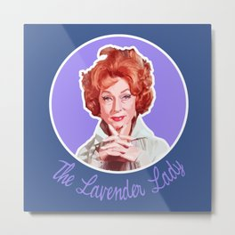 Endora, the Lavender Lady Metal Print