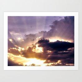 Suns Rays Art Print