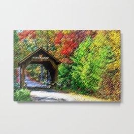 Swamp Meadow Covered Bridge - Scituate-Foster, Rhode Island by Jeanpaul Ferro Metal Print