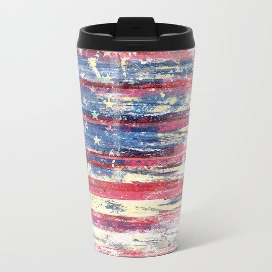 Amerikka Distress Metal Travel Mug