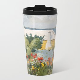 Flower Garden and Bungalow, Bermuda Travel Mug