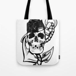 Navy themed skull art, Custom gift design Tote Bag