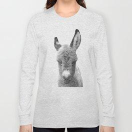 Black and White Baby Donkey Long Sleeve T-shirt