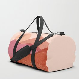 Abstraction_SUNSET_Mountains_Landscape_Minimalism_001 Duffle Bag