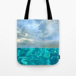 seascape 006: solo flight over swimming pool Tote Bag