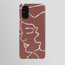 Cowgirl Line Art Android Case