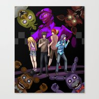 fnaf Canvas Prints featuring fnaf by Fateless Knight