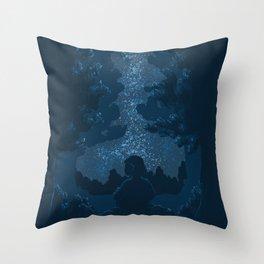 Stargazing | Digital illustration Throw Pillow