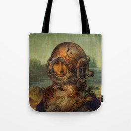 Steampunk Mona Lisa - Leonardo da Vinci Tote Bag