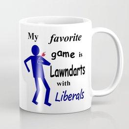 Lawndarts with Liberals Coffee Mug