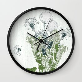 Dandelion botanical  Wall Clock