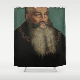 Lucas Cranach the Elder - George, Duke of Saxony, Duke of Saxony Shower Curtain