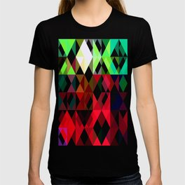 Mixed color Poinsettias 3 Abstract Triangles 1 T-shirt