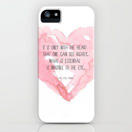 It is only with the heart iPhone Case