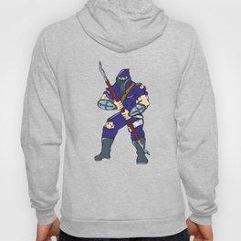 Ninja Masked Warrior Spear Cartoon Hoody