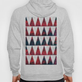 Red and White marble sharp triangles Hoody