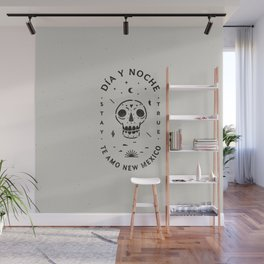 """Te Amo New Mexico"" sugar skull badge (day) Wall Mural"