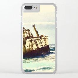 shipwreck aqrefn Clear iPhone Case