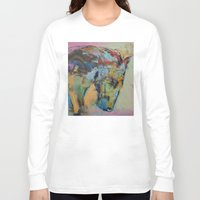 study Long Sleeve T-shirts featuring Horse Study by Michael Creese