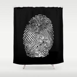 Black & White Fingerprint Shower Curtain