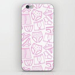 PillTalk - undies pattern iPhone Skin