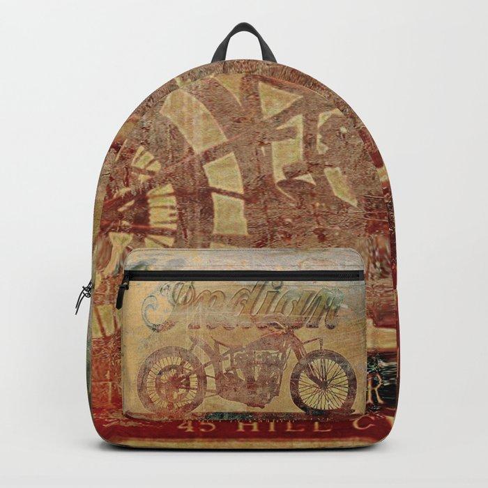 Indian - Vintage Motorcycle Backpack