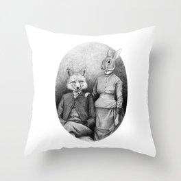 Couple II Throw Pillow