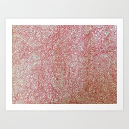 Flower (continuous red) Art Print