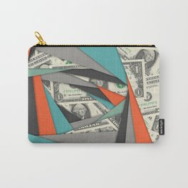 Colorful Currency Collage Carry-All Pouch