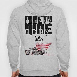 NINETY NINE RED-bike Hoody