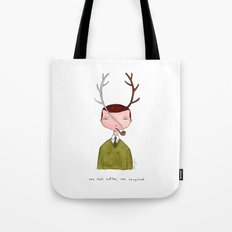 One real antler, one imagined Tote Bag