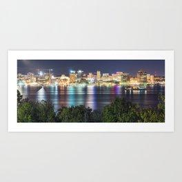 Halifax Skyline Panorama Art Print