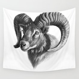 The mouflon G125 Wall Tapestry