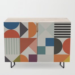 mid century retro shapes geometric Credenza