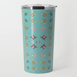 boots all over turquoise Travel Mug