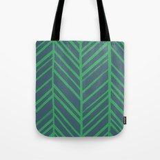 Painted Herringbone - in Emerald Tote Bag