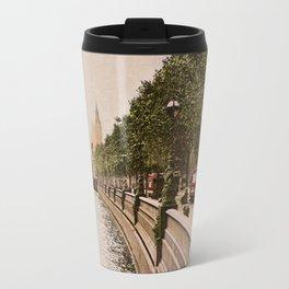 Vintage The Embankment, River Thames, London Travel Mug