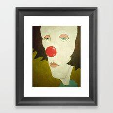 Johnny The Clown Framed Art Print