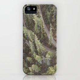 Forest Landscape Photography | Ariel View | Banff Gondola | Alberta | Canada iPhone Case