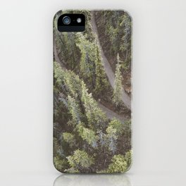 Forest Landscape Photography | Ariel View | Banff Gondola | Alberta | Canada iPhone Case