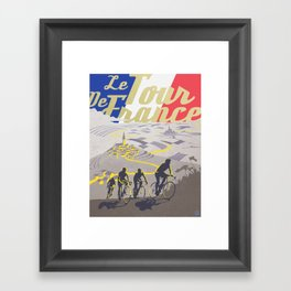 Le Tour de France retro poster Framed Art Print